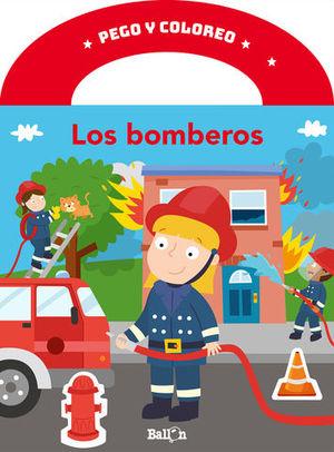 PEGO Y COLOREO - LOS BOMBEROS.