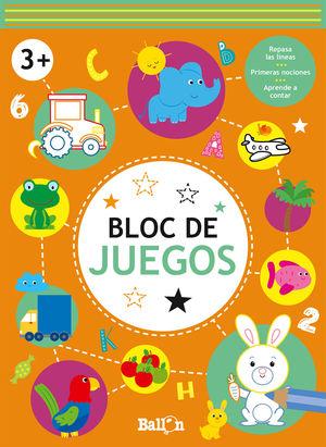 BLOC DE JUEGOS +3 NARANJA